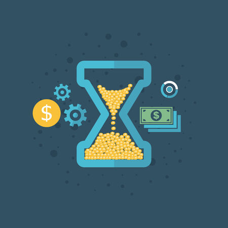 money watch on a blue background