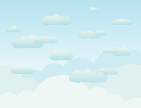 Clouds in the sky. A vector illustration