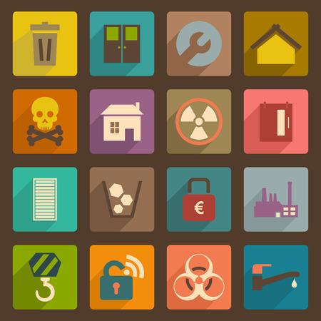 urn: Set of flat icons. A vector illustration