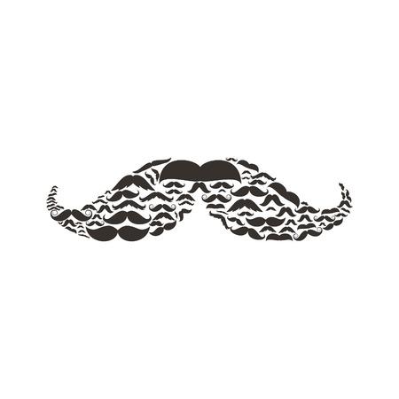 moustaches: Moustaches made of moustaches. A vector illustration