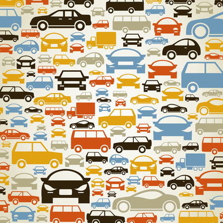 silhouette voiture: Fond faite de voitures. Une illustration vectorielle Illustration