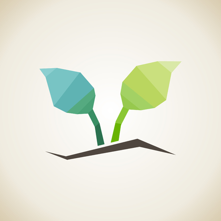 purify: Green plant on a grey background