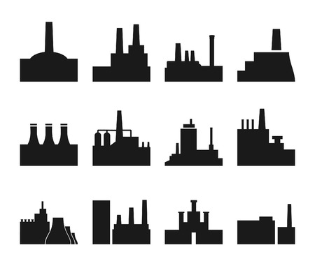 metallurgy: Set of icons on a theme the industry. A vector illustration