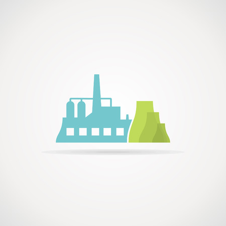 metallurgy: The industrial factory. Vector illustration