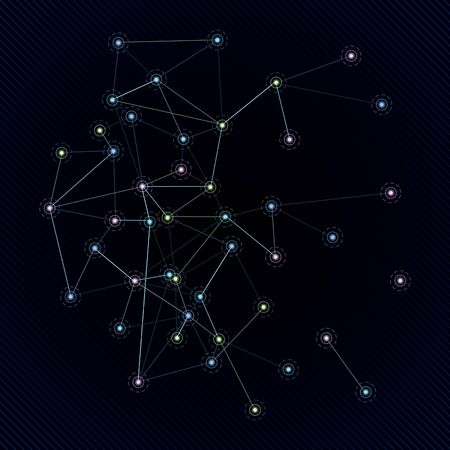 skies: Constellation in space. A vector illustration