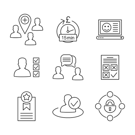 shiny suit: Set of icons on a theme the user.