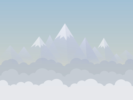 headwaters: Mountains and sky illustration