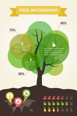 Infographics on the theme of the tree Illustration