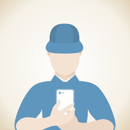 sales manager: The man with the phone.
