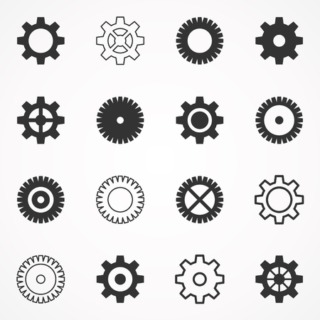 small group of objects: A set of gears. Vector illustration Illustration