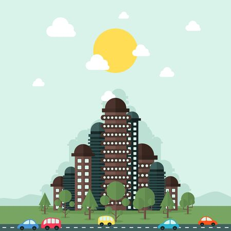 The city of the future. Vector illustration Illustration