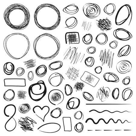 voluptuous: Circle drawing the sketch. A vector illustration Illustration