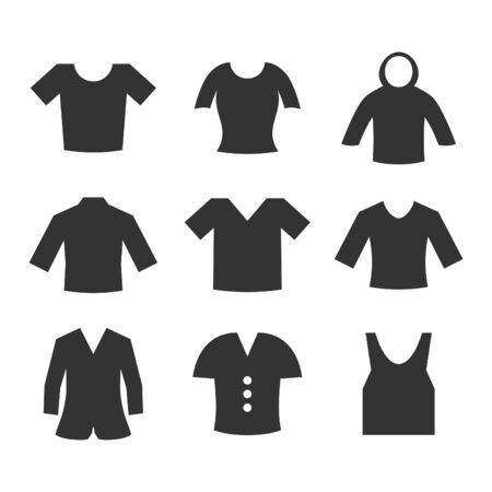 Set of icons clothing. Vector illustration