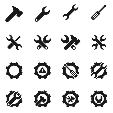 Set of icons on a theme the tool. Vector illustration