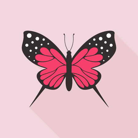 Butterfly in flat style, vector illustration.
