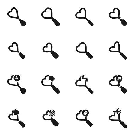 ensemble d & # 39 ; icônes sur le sujet de l & # 39 ; illustration vectorielle de cordovan