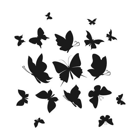 The flight of butterflies flies. A vector illustration Illustration