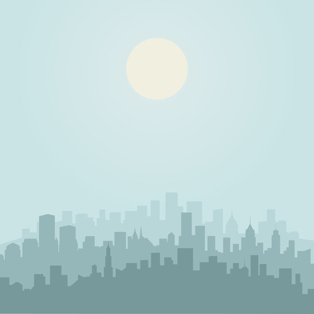 A city in flat style. Vector illustration