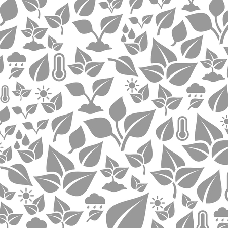 Grey background from leafs. A vector illustration