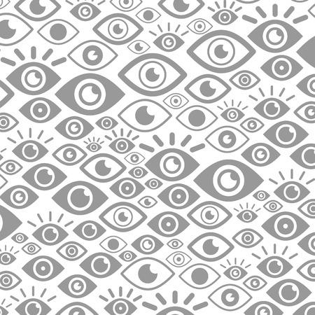 Der Hintergrund wird mit den Augen gemacht. Vektorillustration