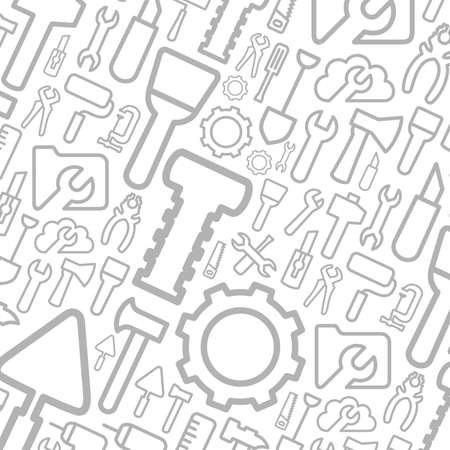 Grey background from tools. A vector illustration Illustration