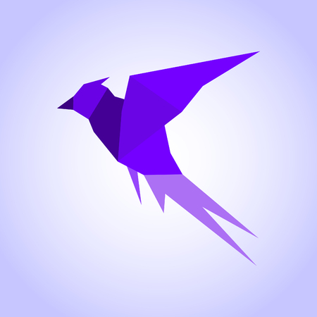 Abstraction a bird in flight. A vector illustration