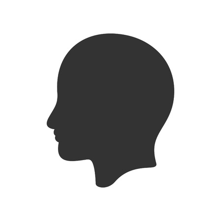 Head icon. Vector illustration of icon Ilustração