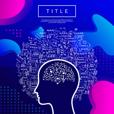 Abstract head note. Vector illustration Illustration