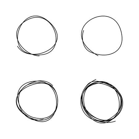 Cerchio che disegna lo schizzo. Un'illustrazione vettoriale