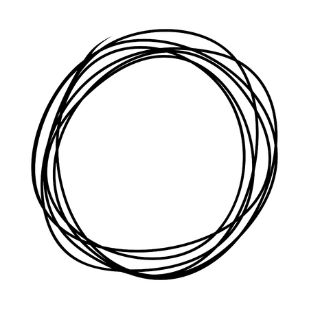 Circle drawing the sketch. A vector illustration Ilustração