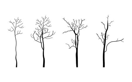 Set of trees. Vector illustration Illustration