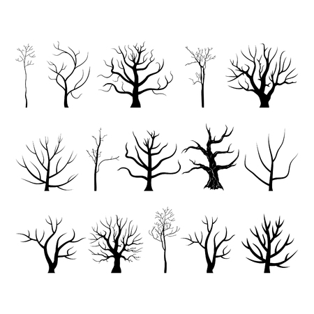 Set of trees. Vector illustration Иллюстрация