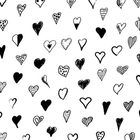 Background made of hearts. A vector illustration