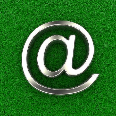 Email symbol on fur photo