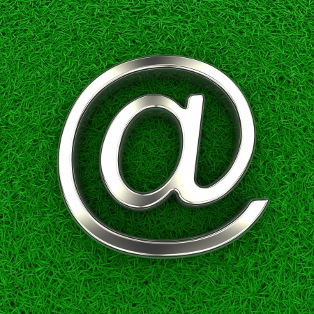 extracted: Email symbol on fur