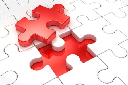 jig saw: Puzzle  Concept