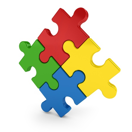 Multicolored puzzle photo