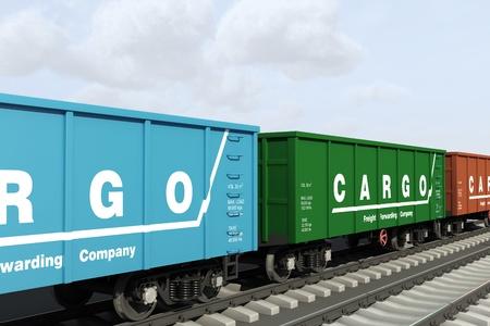 Rail wagons  Stock Photo - 21920196