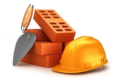 overhaul: Bricks, helmet and trowel