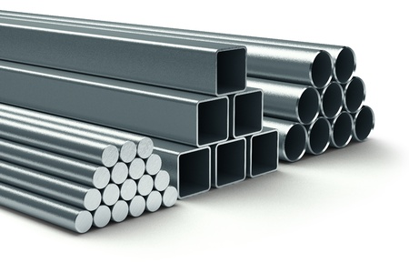 steel factory: Stainless steel  Group of rolled metal