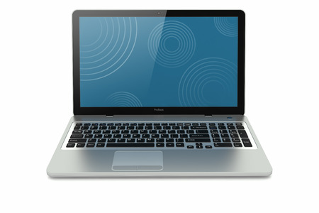 Silver modern mobility laptop  Concept Stock Photo - 22218926
