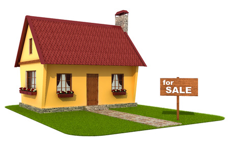 Model house  For sale signboard  photo