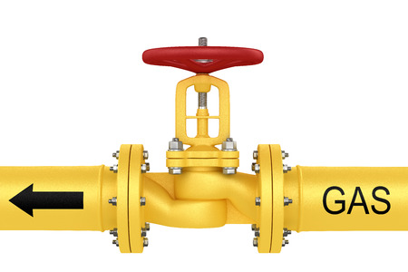Valve on the gas pipeline Stock Photo