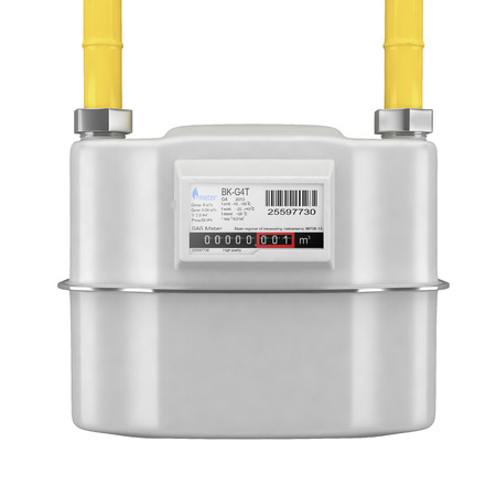 gas pipe: Natural gas meter