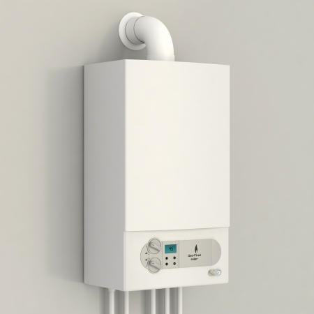 White gas boiler photo
