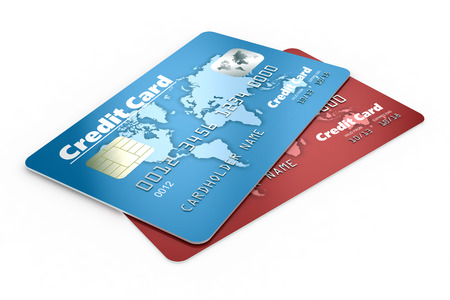 Creditcards geïsoleerd Stockfoto