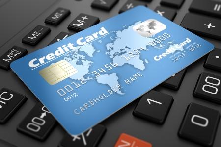 キーボード上のクレジット カード