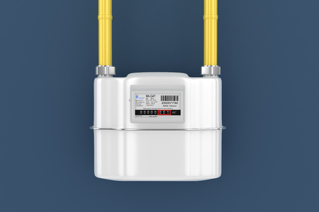 Home gas meter photo