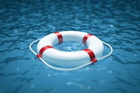 水に救命浮輪