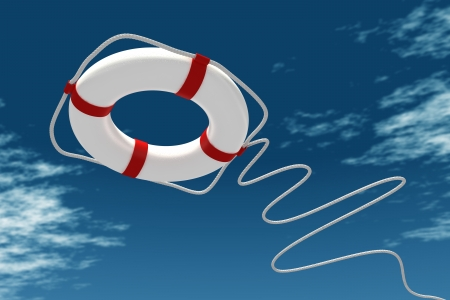 lifeguard: Life preserver in sky
